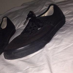 Vans all black low tops !